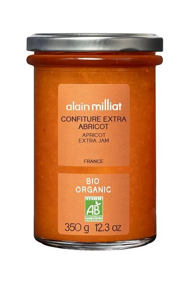 Confiture Extra Abricot BIO, Alain Milliat (350 g)