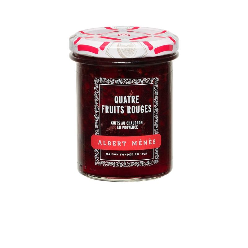 Confiture Extra de Quatre Fruits Rouges, Albert Ménès (280 g)