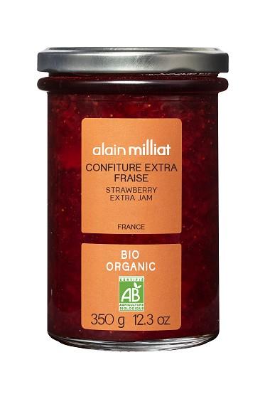 Confiture Extra Fraise BIO, Alain Milliat (350 g)