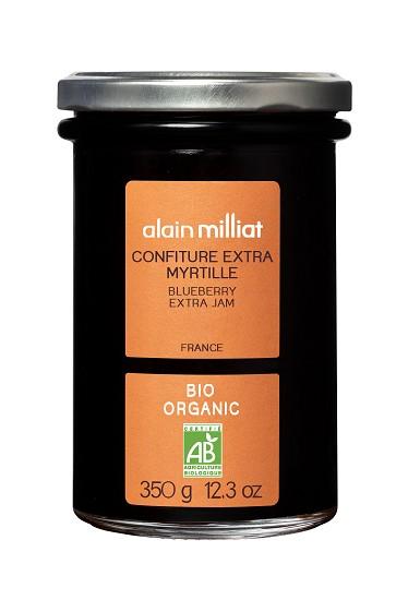 Confiture Extra Myrtille BIO, Alain Milliat (350 g)