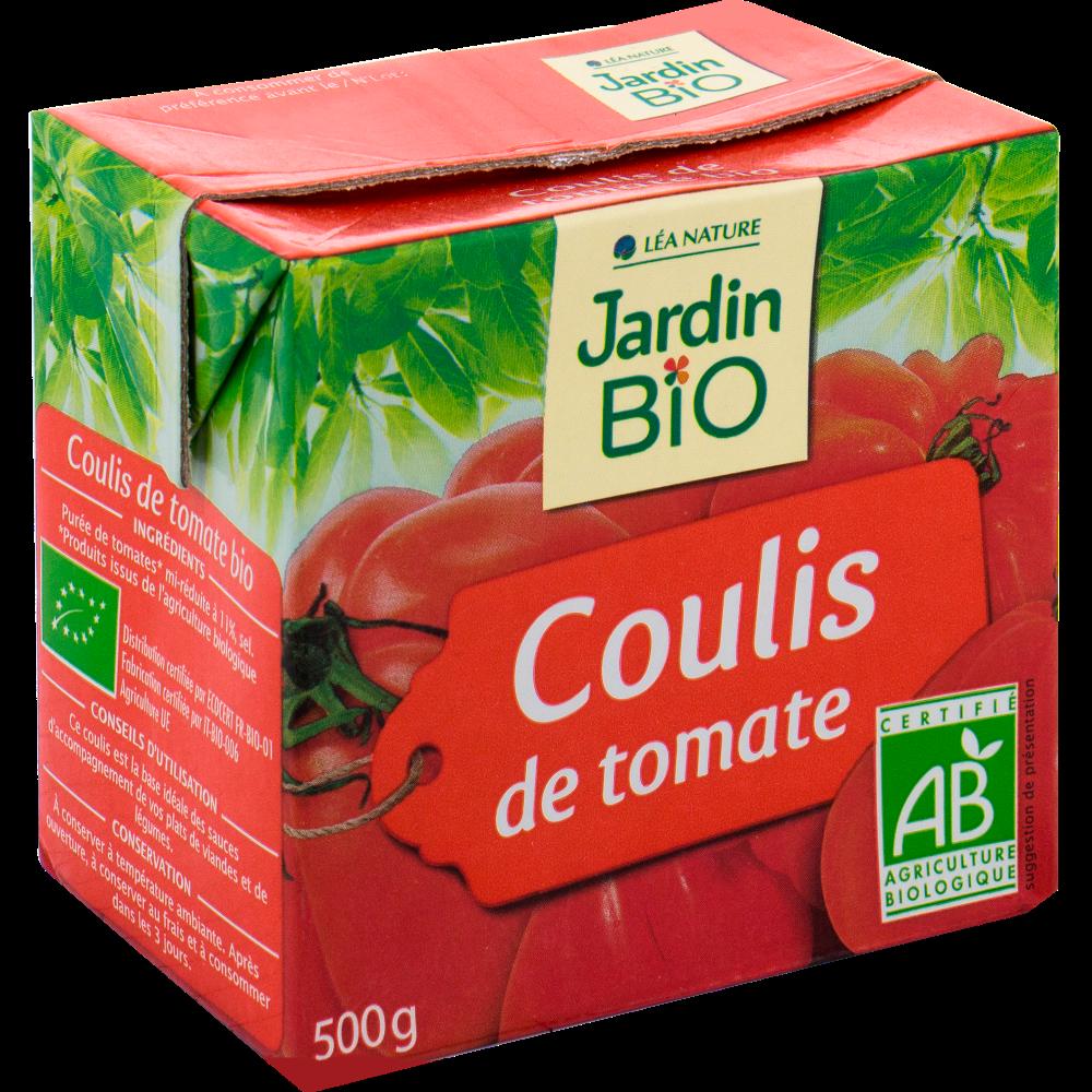 Coulis de tomates BIO, Jardin Bio (500 g)