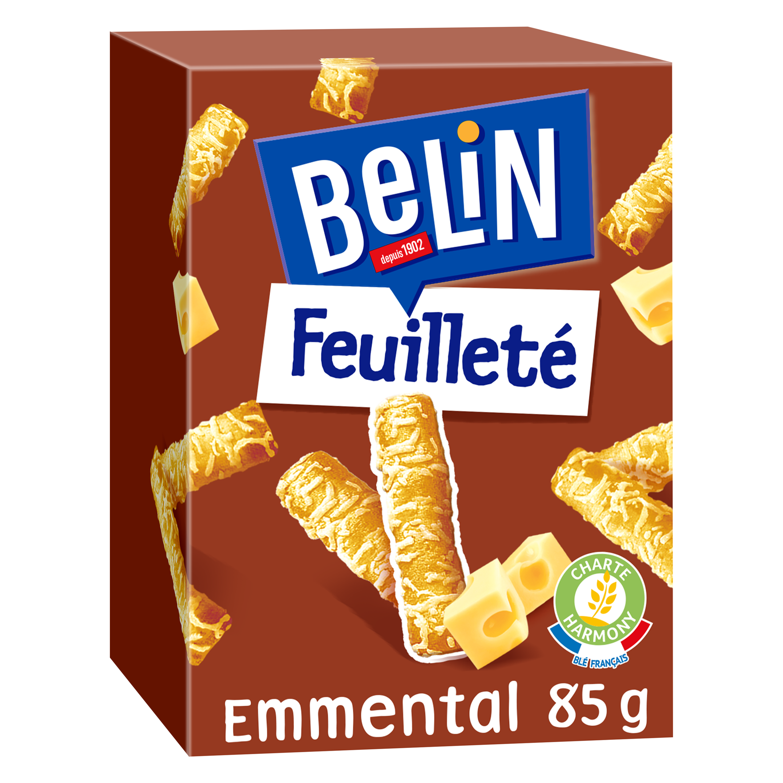 Crackers feuilleté emmental, Belin (85 g)