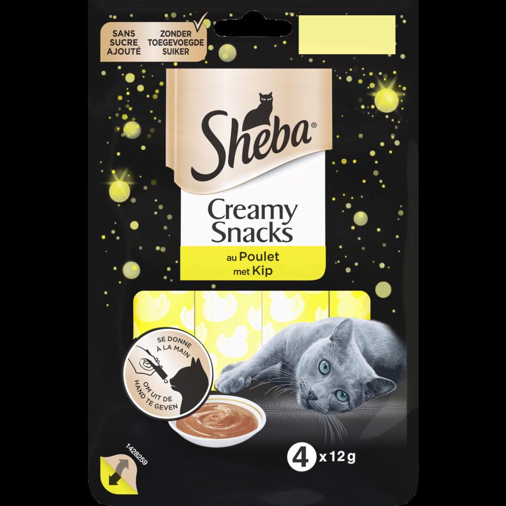 Creamy snacks au poulet, Sheba (4 x 12 g)