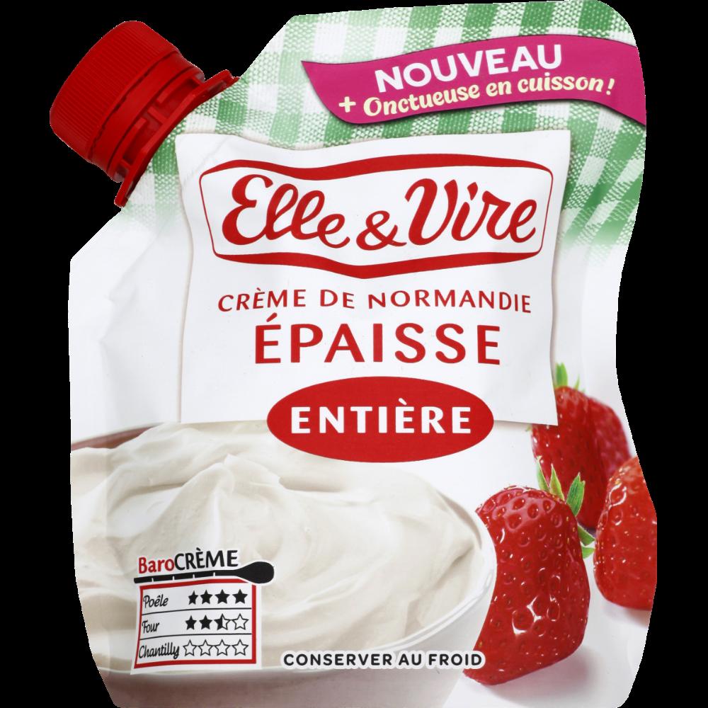 Crème fraîche épaisse entière 30%MG, Elle & Vire (33 cl)
