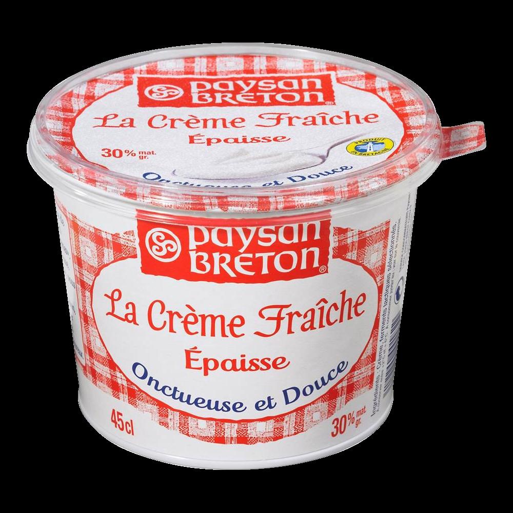 Crème fraîche épaisse 30% de MG, Paysan Breton (45 cl)