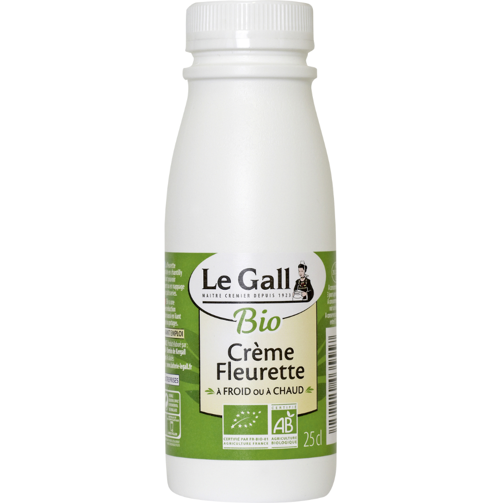 Crème fraîche fleurette BIO, Le Gall (25 cl)