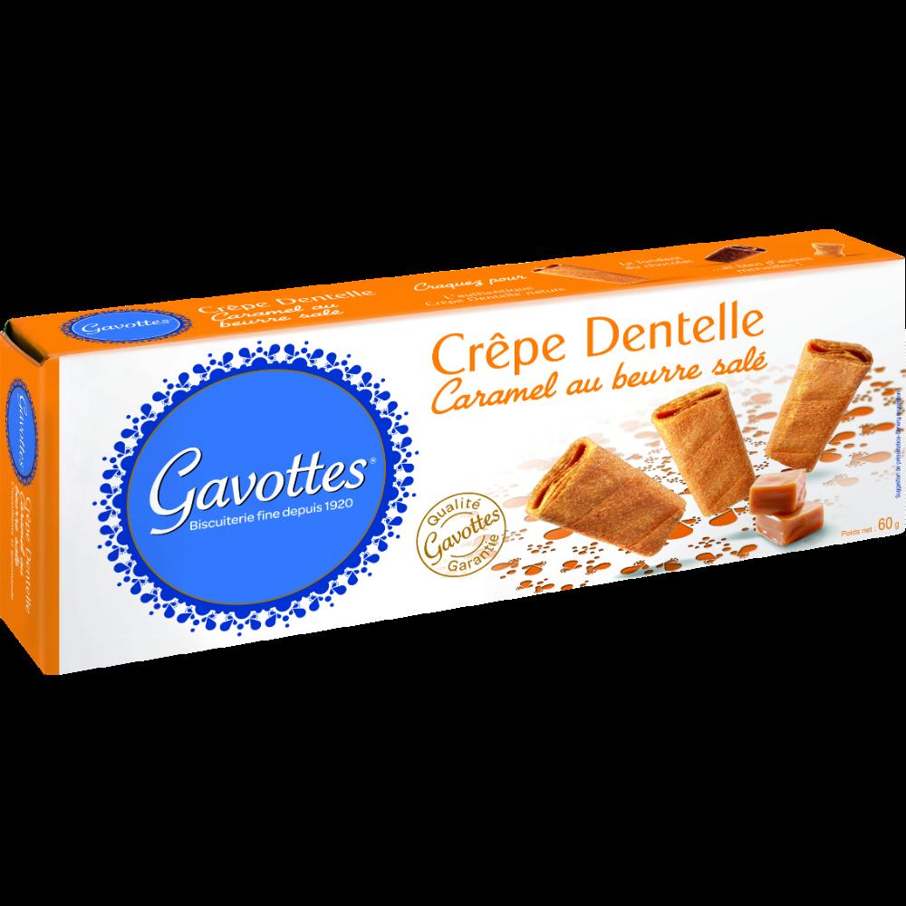 Crêpes dentelle au caramel beurre salé, Gavottes (60 g)