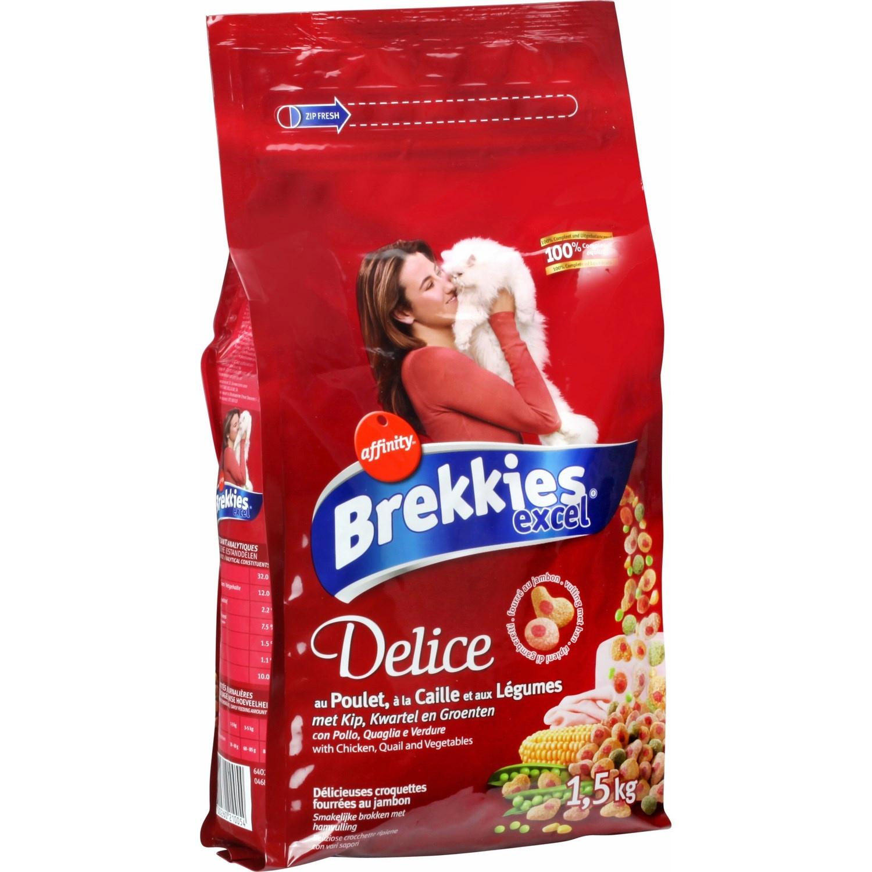 Croquettes au poulet, à la dinde et aux légumes pour chats, Brekkies (1,5 kg)