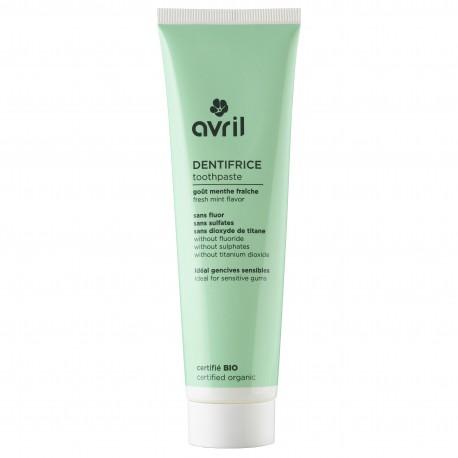 Dentifrice à la menthe certifié BIO, Avril (100 ml)