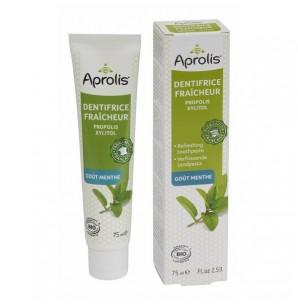 Dentifrice fraîcheur à la propolis et huiles essentielles, menthe poivrée, Aprolis (75 ml)