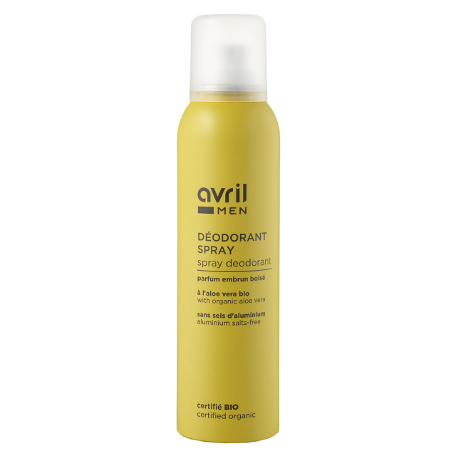 Déodorant spray homme certifié BIO, Avril MEN (150 ml)