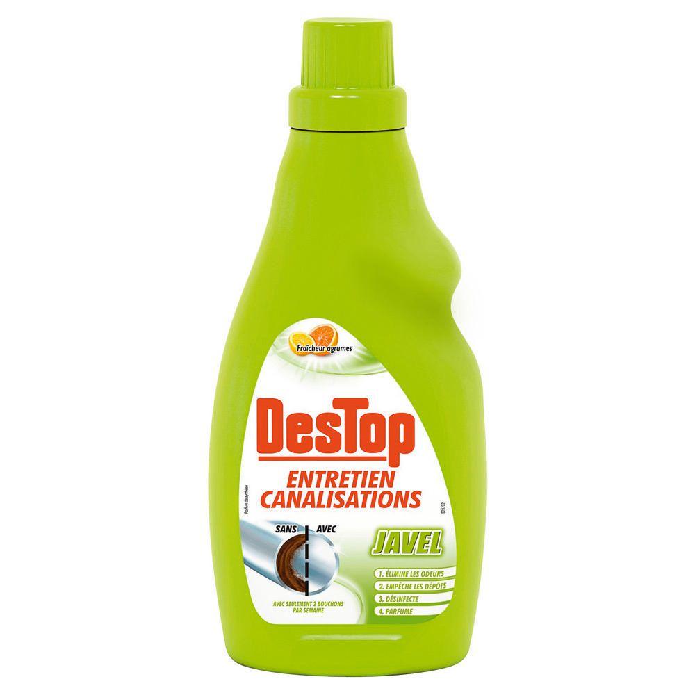 Gel entretien canalisation avec javel Citron, Destop (750 ml)