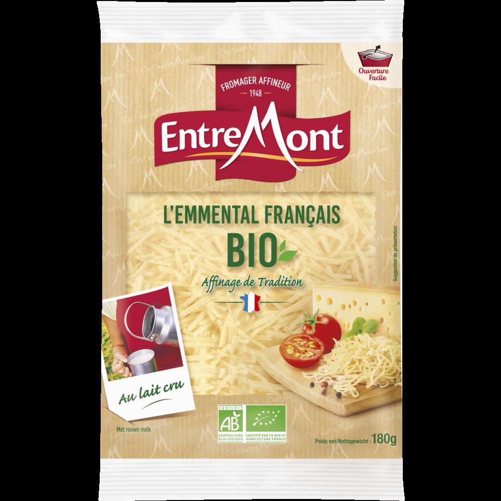 Emmental râpé au lait cru BIO, Entremont (180 g)