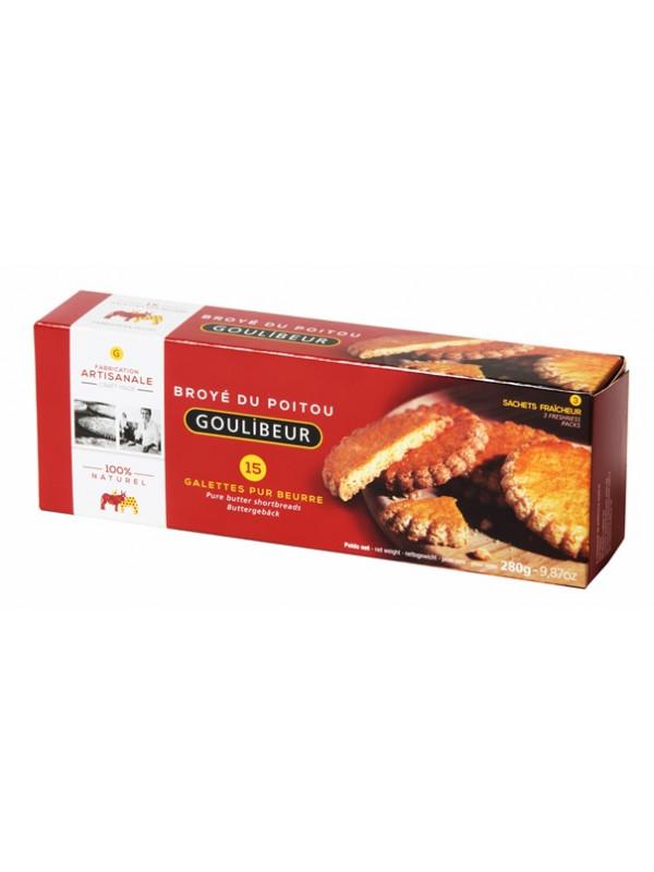 Etui de 15 galettes pur beurre en 3 sachets fraîcheur, Goulibeur (280 g)