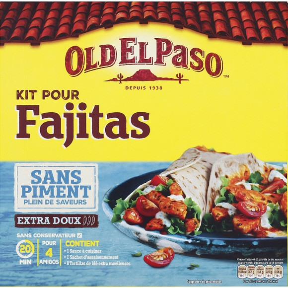 Kit pour fajitas sans piment, Old El Paso (478 g)