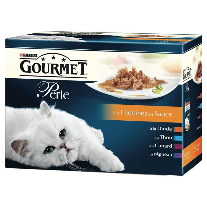 Filettines en sauce, Gourmet Perle Purina (12 x 85 g)