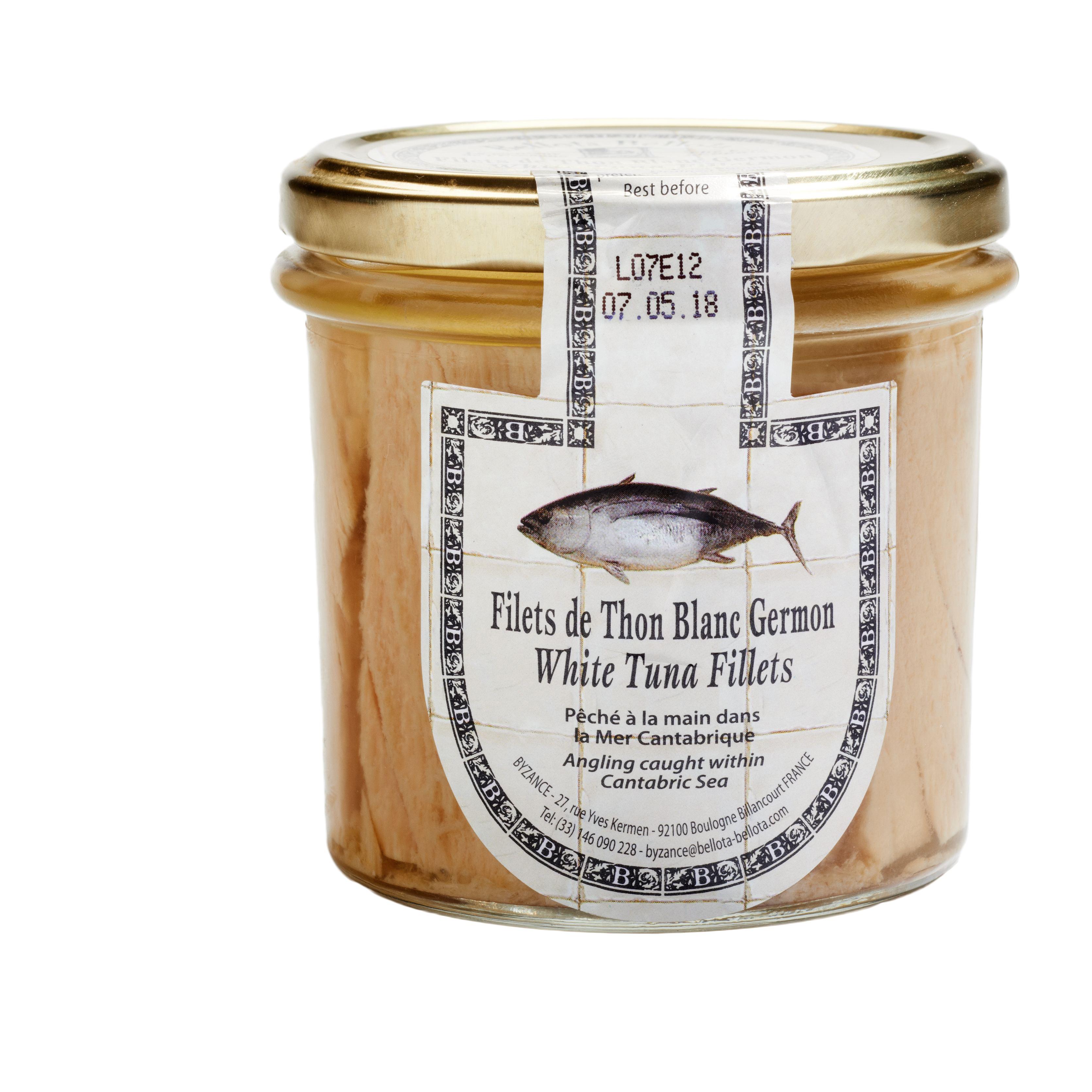 Filets de thon blanc Germon à l'huile d'olive, Bellota-Bellota (225 g)
