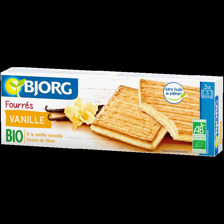 Fourrés vanille BIO, Bjorg (225 g)