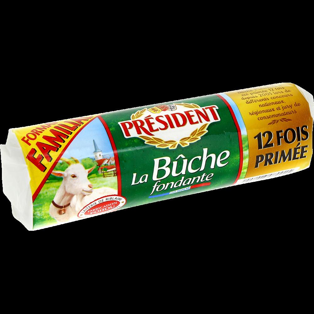 Bûche fondante de chèvre format familial, Président (250 g)