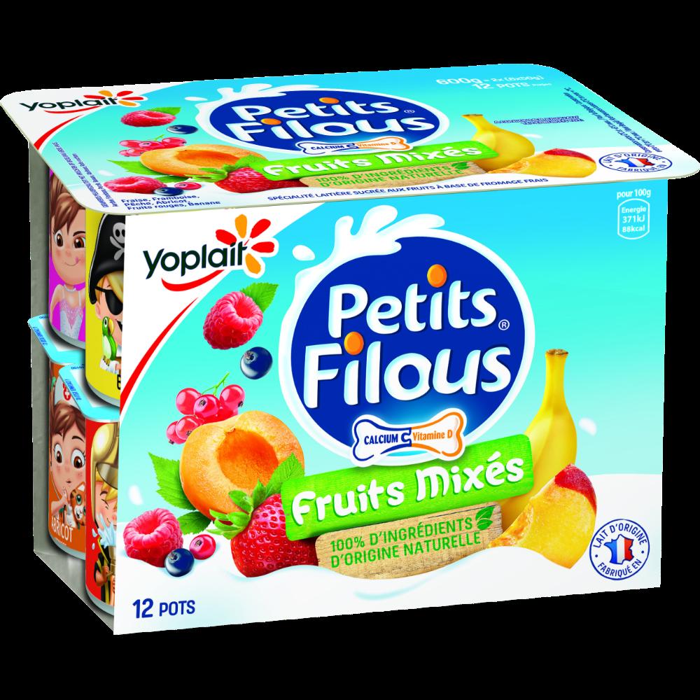 Petits filous aux fruits mixés, Yoplait (x 12, 600 g)