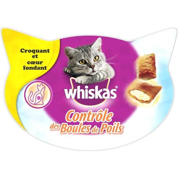 Friandises contrôle des boules de poils, Whiskas (60 g)