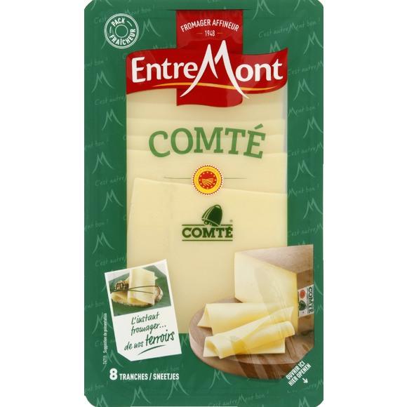 Comté en tranches 34%, Entremont (x 8 tranches, 120 g)