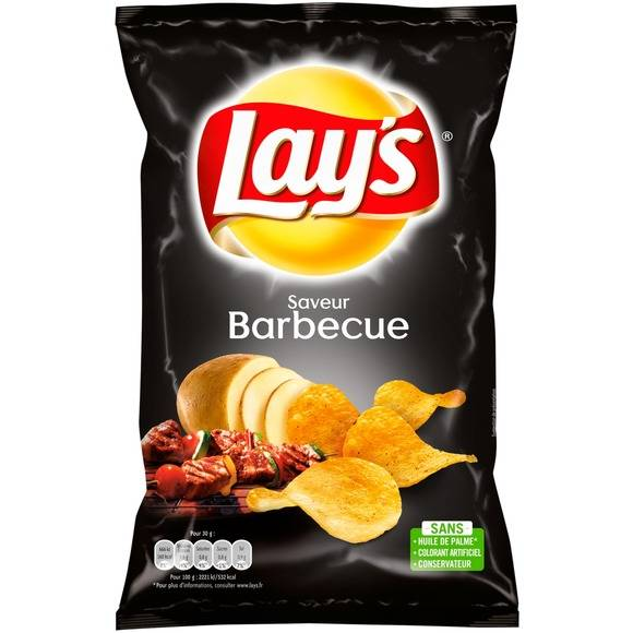 Chips saveur barbecue, Lay's (130 g)