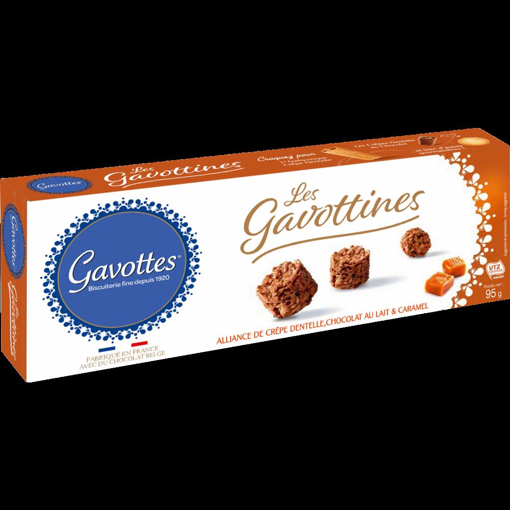 Biscuits Les gavottines au lait et caramel, Gavottes (95 g)