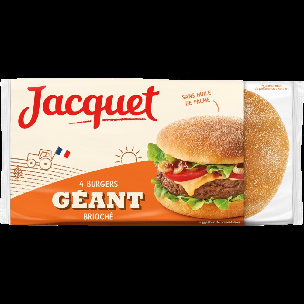 Géant burger brioché, Jacquet (x 4, 300 g)