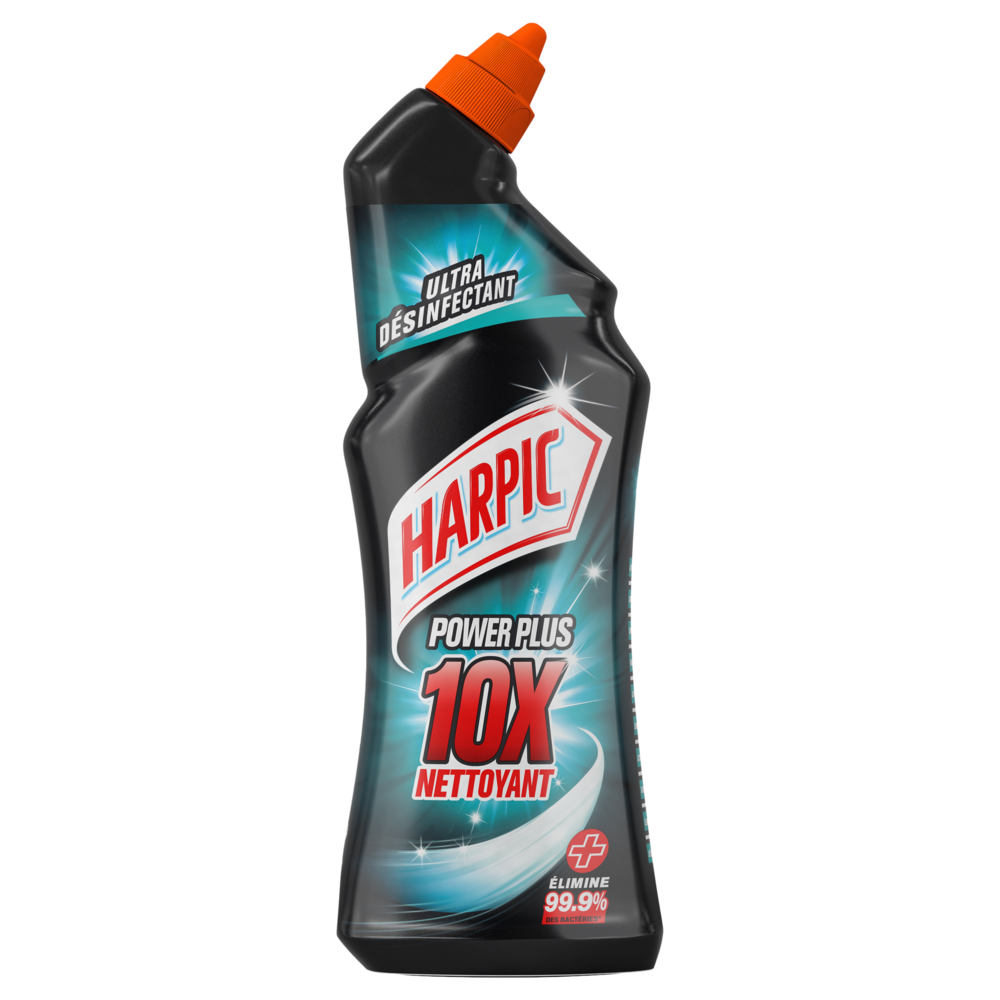 Gel Nettoyant WC Power Plus surpuissant désinfectant, Harpic (750 ml)