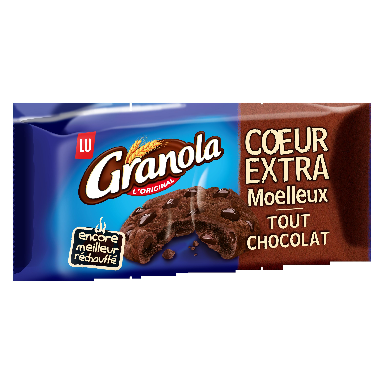 Granola cookies coeur extra moelleux tout chocolat, Lu (182 g)