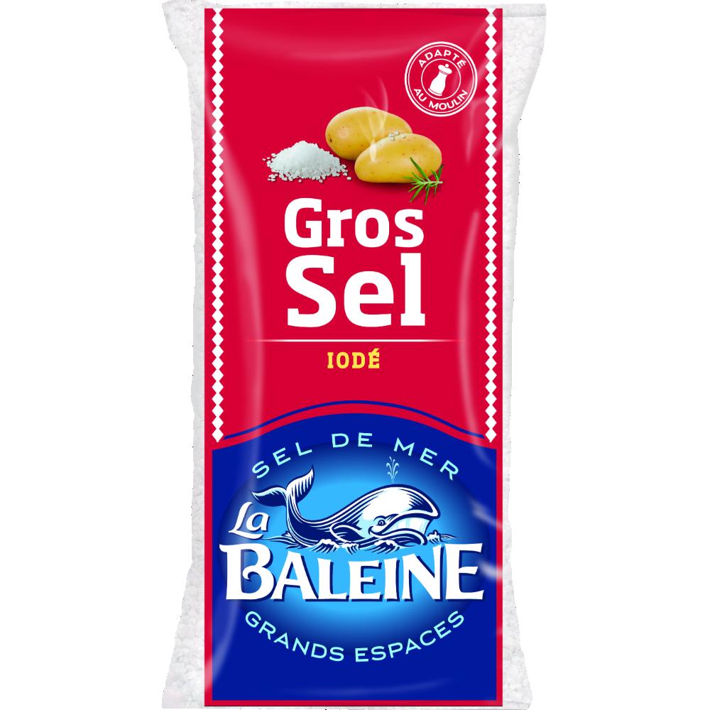 Gros sel blanc iodé, La Baleine (1 kg)