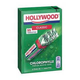 Chewing Gum chlorophylle, Hollywood (5 x 11 tablettes)