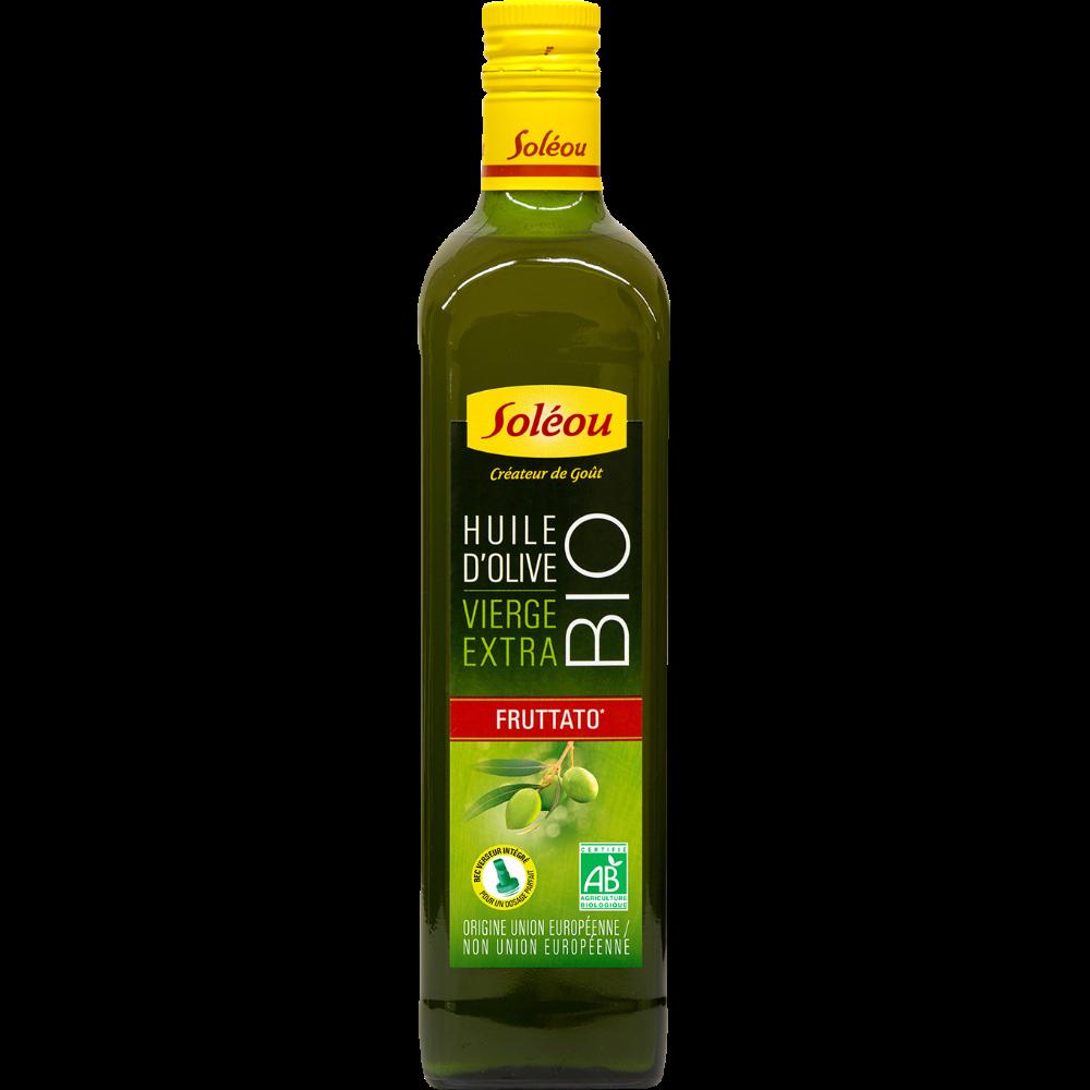 Huile d'olive vierge extra Fruttato BIO, Soleou (75 cl)