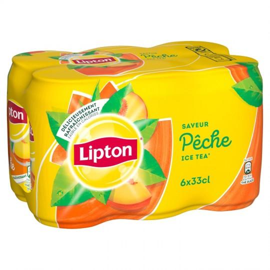 Pack Ice Tea pêche Lipton (6 x 33 cl)