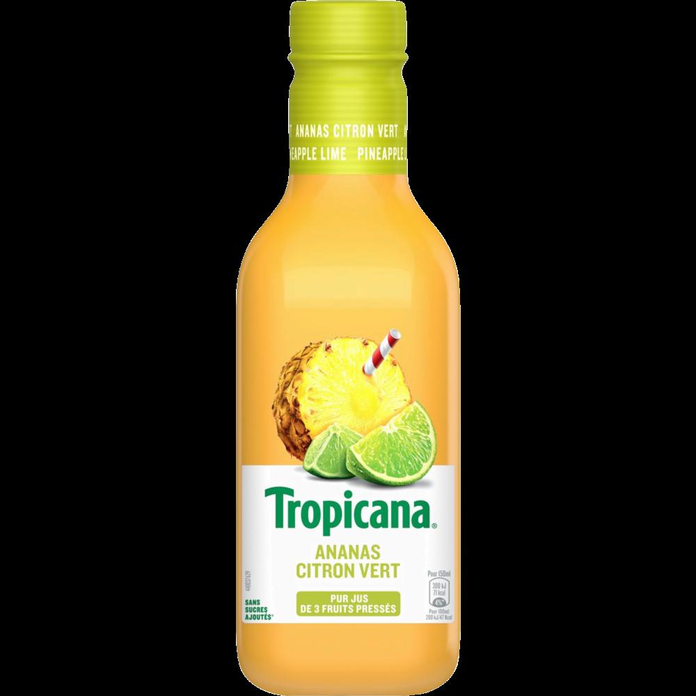 Jus d'ananas et citron vert, Tropicana (90 cl)