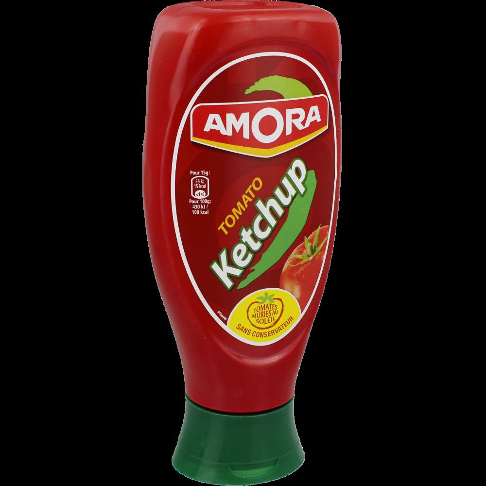 Ketchup top down en flacon, Amora (550 g)