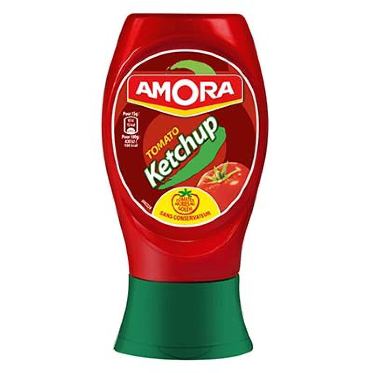 Ketchup nature flacon souple, Amora (280 g)
