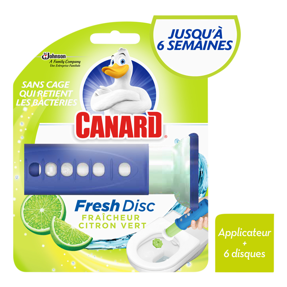 Fresh disc citron vert, Canard (1 applicateur + 6 disques)