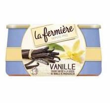 Yaourt à la vanile - Pot en grès, La Fermière (2 x 140 g)