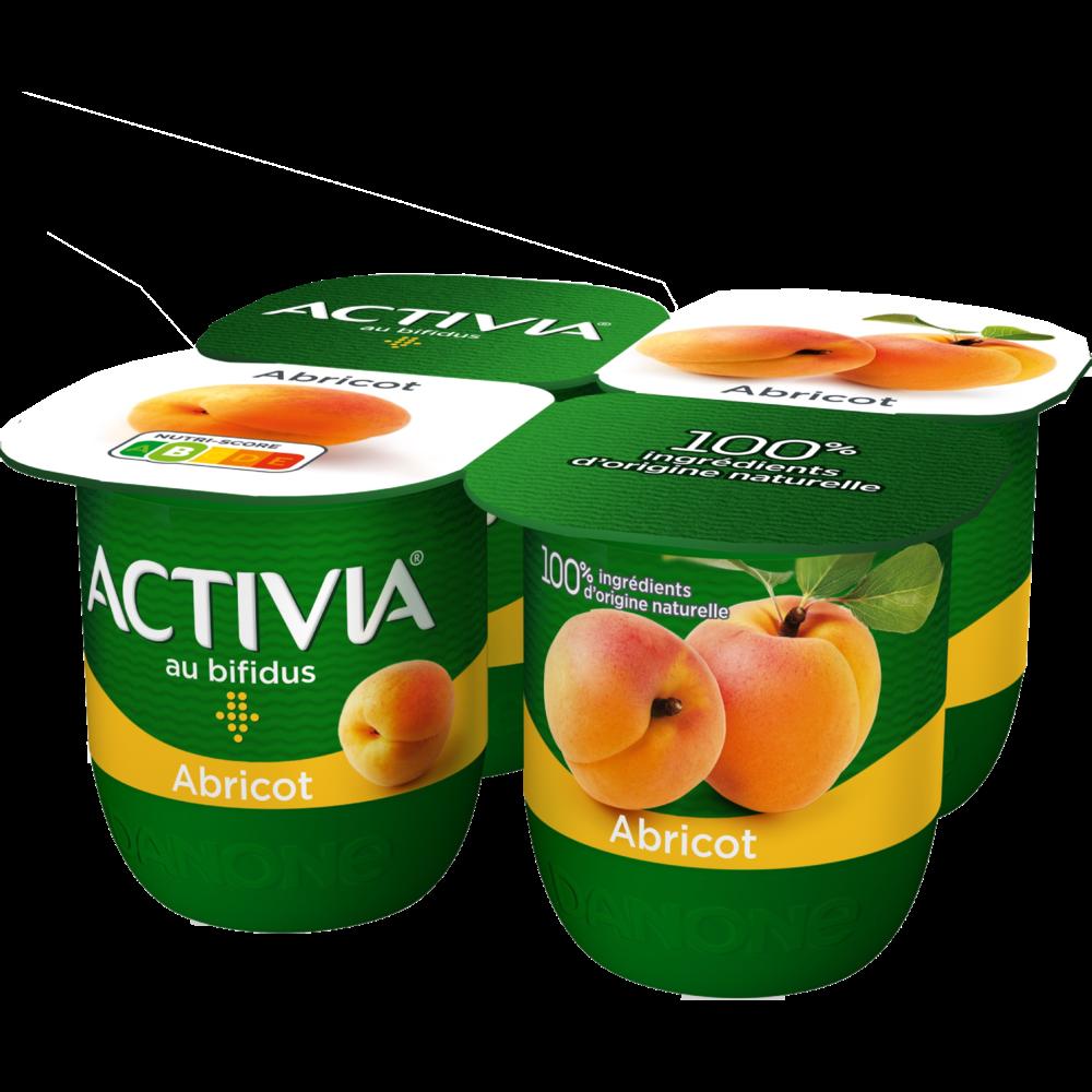 Yahourt à l'abricot, Activia (4 x 125 g)