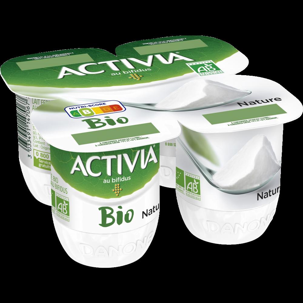 Yaourt au bifidus nature BIO, Activia (4 x 125 g)