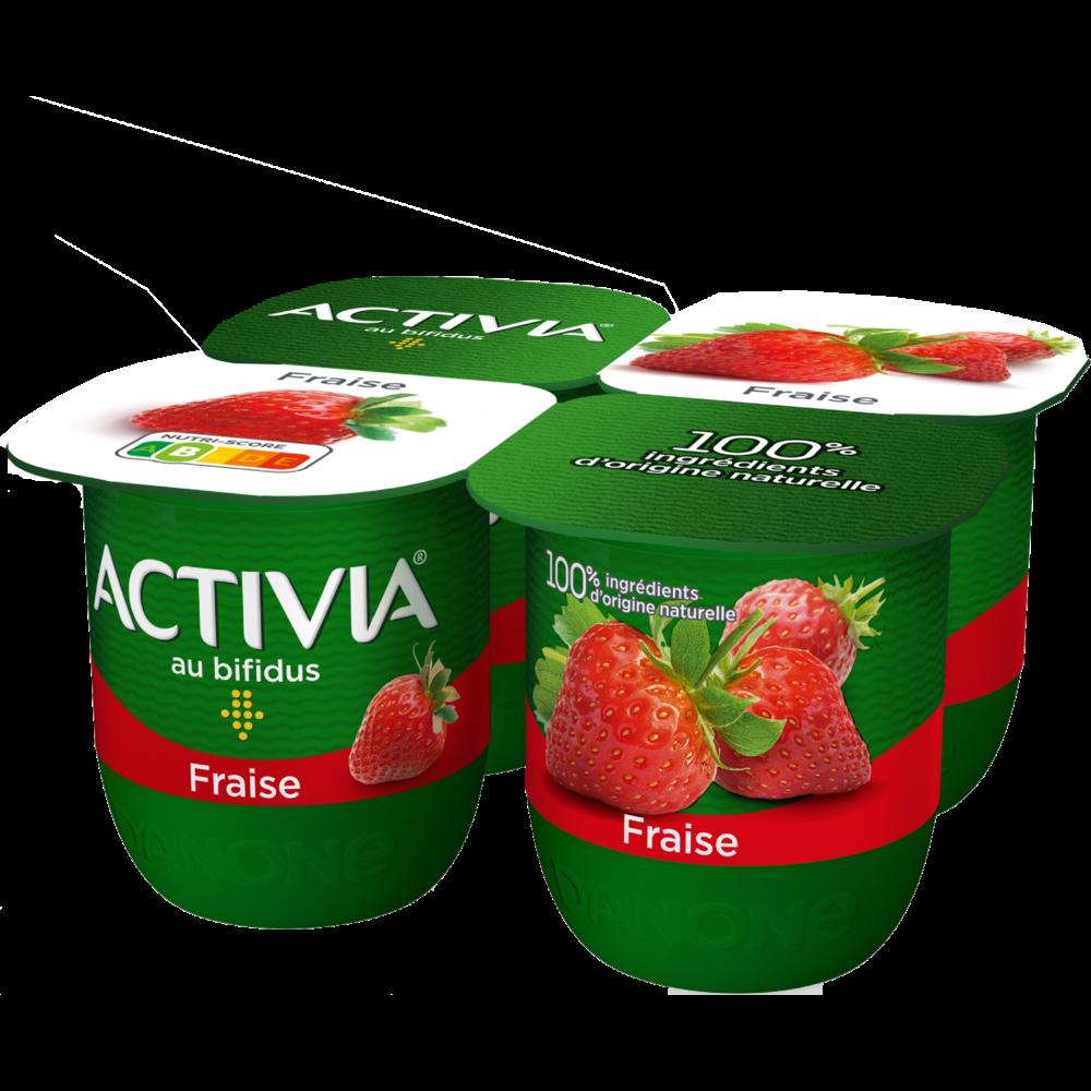 Yaourt fraise au bifidus Activia (4 x 125 g)