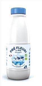 Lait UHT demi écrémé BIO, Pré Fleuri (1 L)