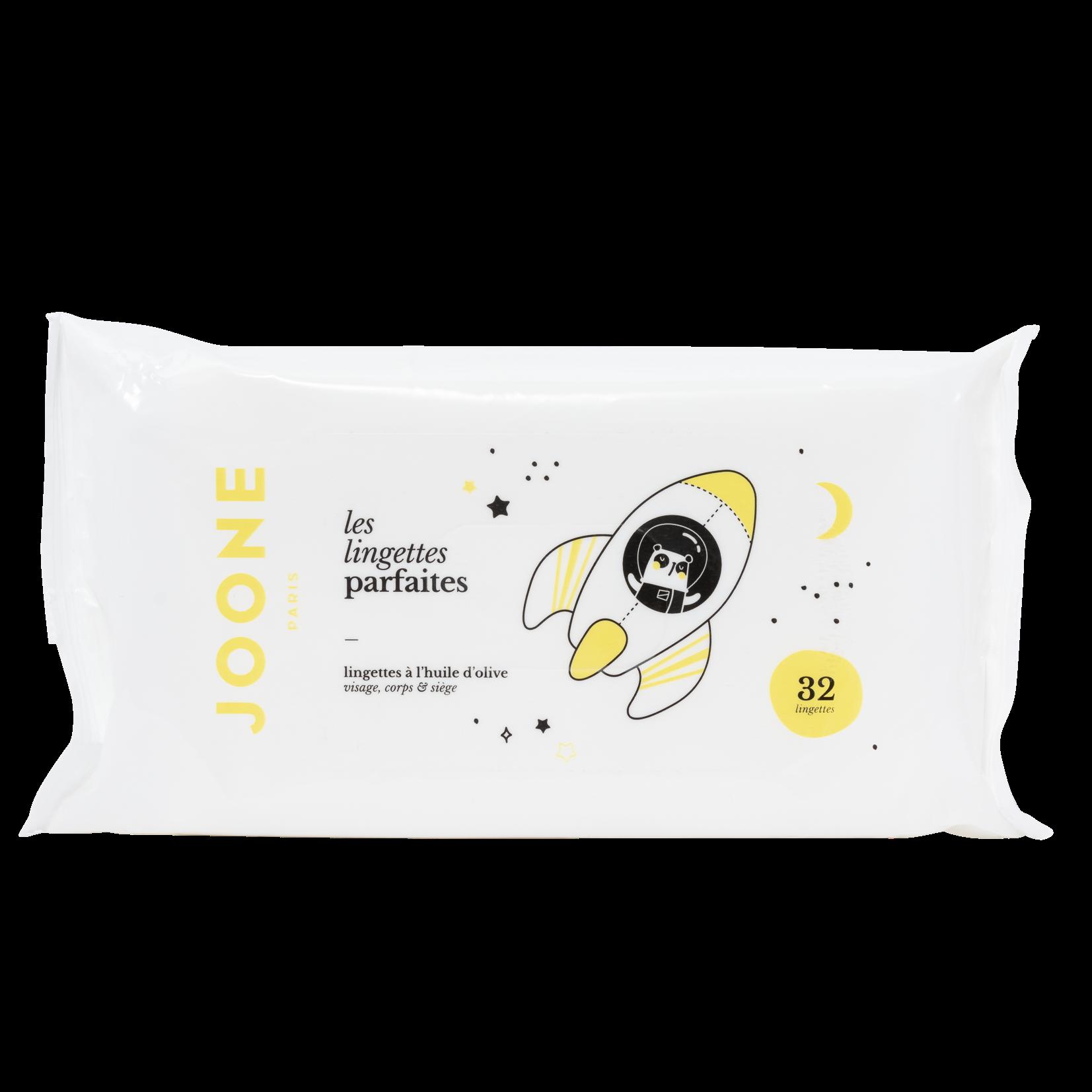 Les lingettes parfaites à l'huile d'olive, Joone (x 32 lingettes)