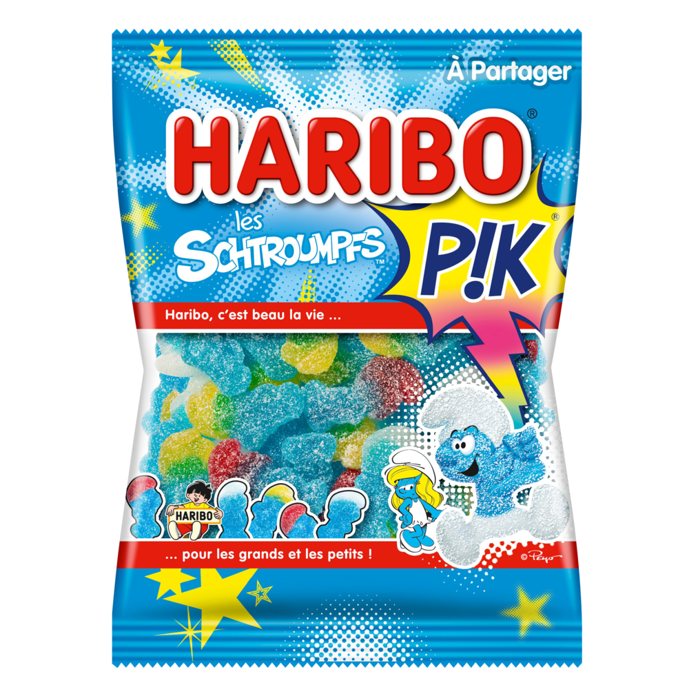 Bonbons Les schtroumpfs Pik, Haribo (275 g)