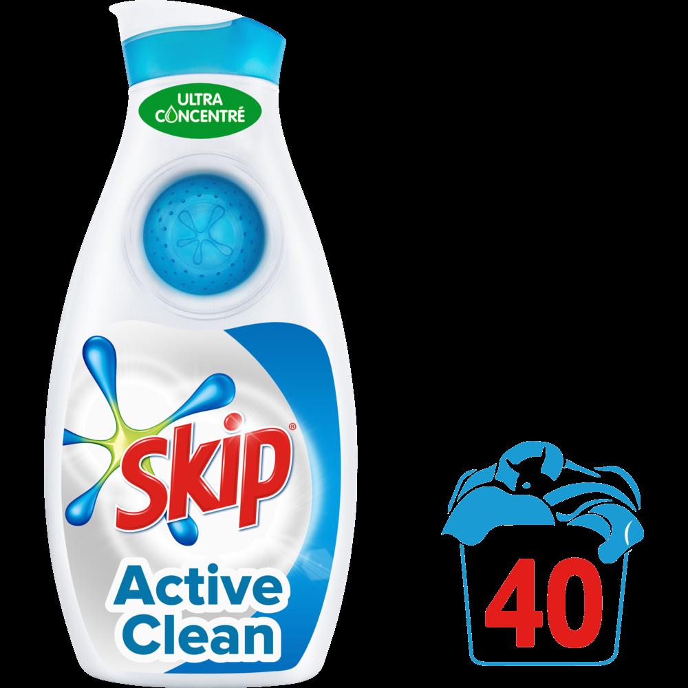 Lessive liquide Petit & Puissant Active Clean, Skip (1.40 L = 40 doses)