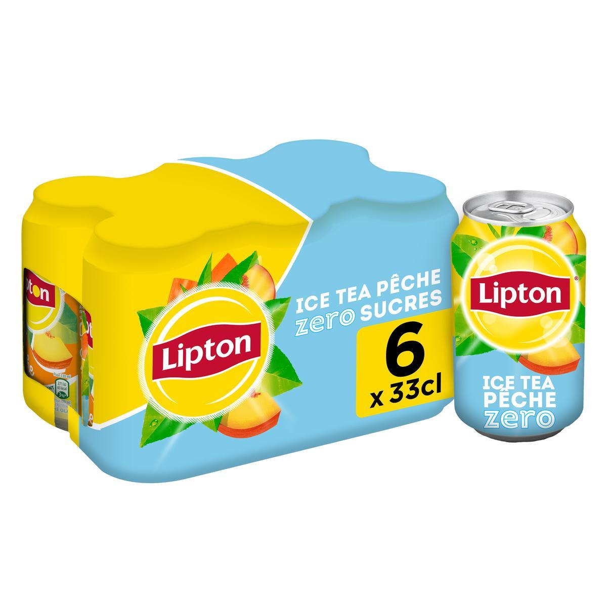 Pack de Lipton Ice Tea pêche zéro (6 x 33 cl)