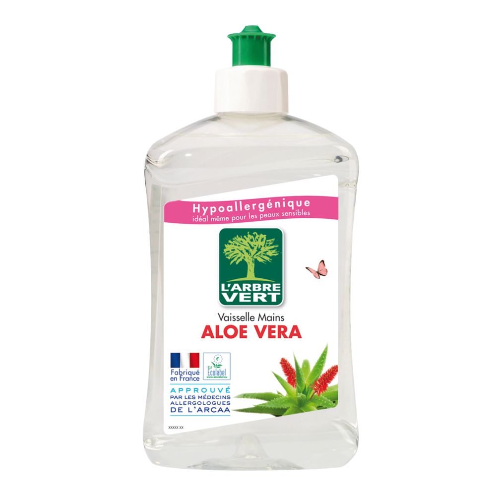 Liquide vaisselle écologique aloe vera, L'Arbre Vert (500 ml)