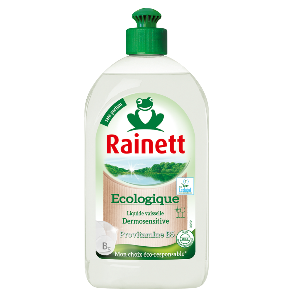 Liquide vaisselle dermosensitive ecolabel, Rainett (500 ml)